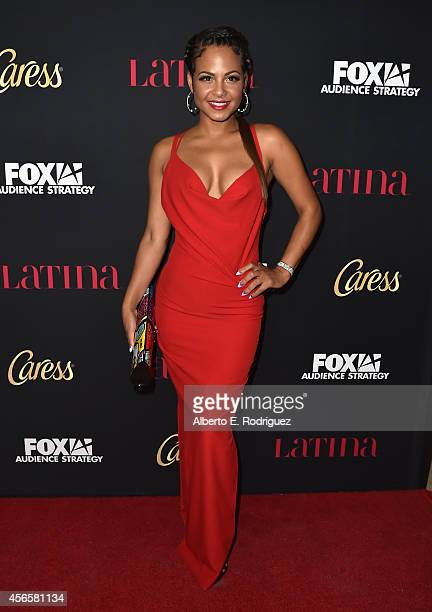 Actress Christina Milian attends LATINA Magazine's 'Hollywood Hot List' party at the Sunset Tower Hotel on October 2 2014 in West Hollywood California