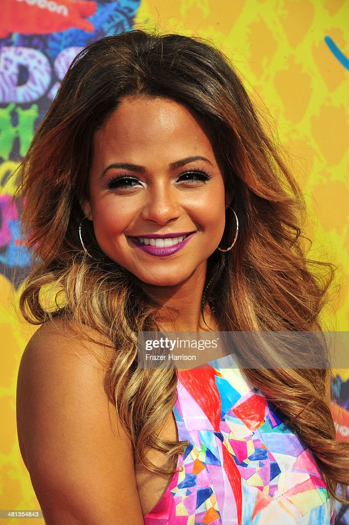Actress Christina Milian attends Nickelodeon's 27th Annual Kids' Choice Awards held at USC Galen Center on March 29, 2014 in Los Angeles, California.