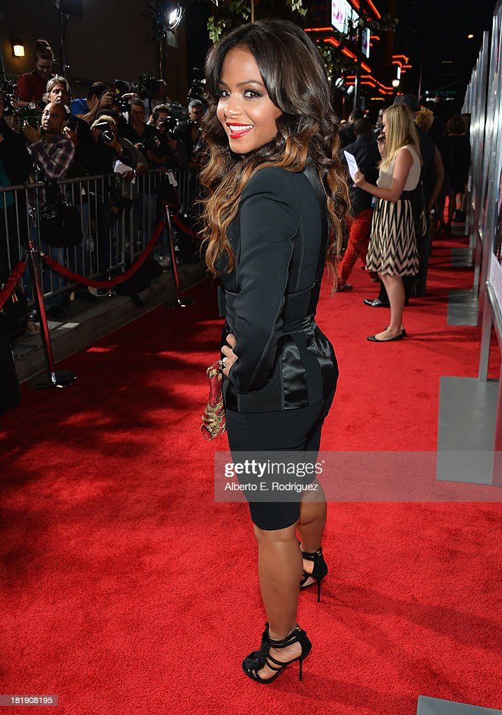 Actress <a gi-track='captionPersonalityLinkClicked' href=/galleries/search?phrase=Christina+Milian&family=editorial&specificpeople=171274 ng-click='$event.stopPropagation()'>Christina Milian</a> attends the premiere of Fox Searchlight Pictures' 'Baggage Claim' at Regal Cinemas L.A. Live on September 25, 2013 in Los Angeles, California.