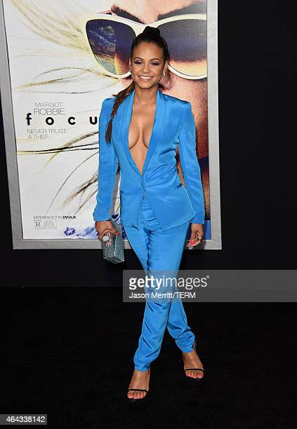 Actress Christina Milian attends the Warner Bros Pictures' 'Focus' premiere at TCL Chinese Theatre on February 24 2015 in Hollywood California