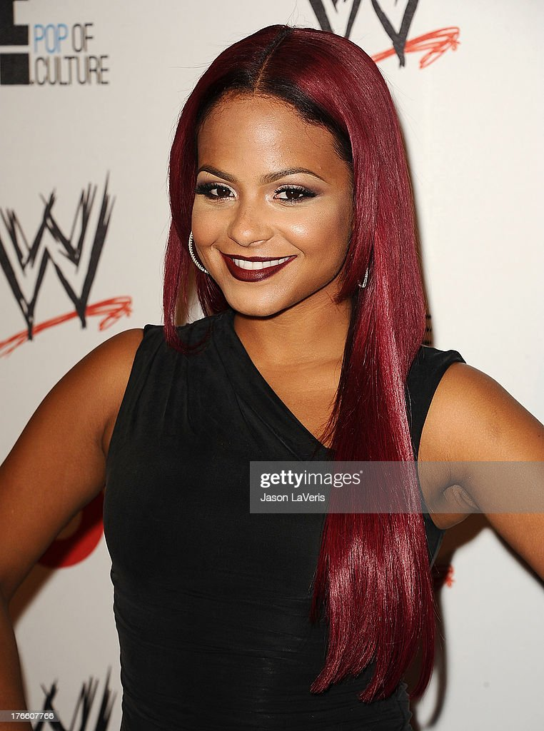 Actress Christina Milian attends the WWE SummerSlam VIP party at Beverly Hills Hotel on August 15, 2013 in Beverly Hills, California.