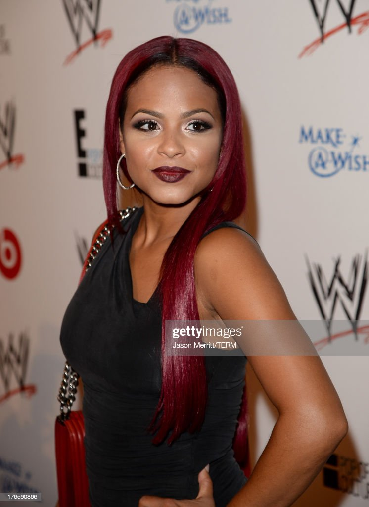 Actress Christina Milian attends WWE & E! Entertainment's 'SuperStars For Hope' at the Beverly Hills Hotel on August 15, 2013 in Beverly Hills, California.