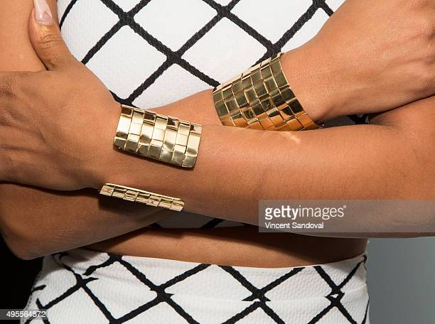 Actress Christina Milian bracelet detail attends SAG Foundation's 'Conversations' series screening of 'Grandfathered' at SAG Foundation Actors Center...