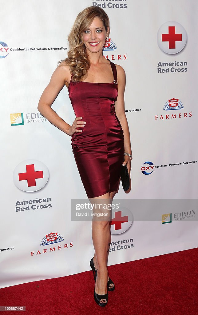 Actress Christina Moore attends the 7th Annual American Red Cross Red Tie Affair at the Fairmont Miramar Hotel on April 6, 2013 in Santa Monica, California.