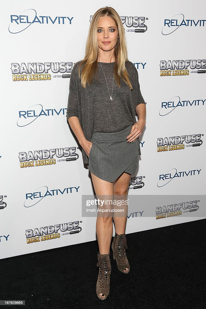 Actress <a gi-track='captionPersonalityLinkClicked' href=/galleries/search?phrase=Christina+Moore&family=editorial&specificpeople=228726 ng-click='$event.stopPropagation()'>Christina Moore</a> attends the BandFuse: Rock Legends video game launch event at House of Blues Sunset Strip on November 12, 2013 in West Hollywood, California.