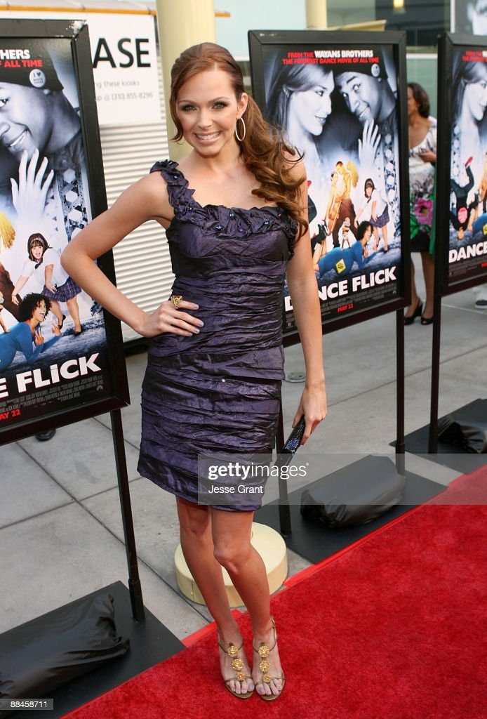 Actress Christina Murphy arrives on the red carpet of the Los Angeles premiere of 'Dance Flick' at the ArcLight Hollywood on May 20 2009 in Hollywood...