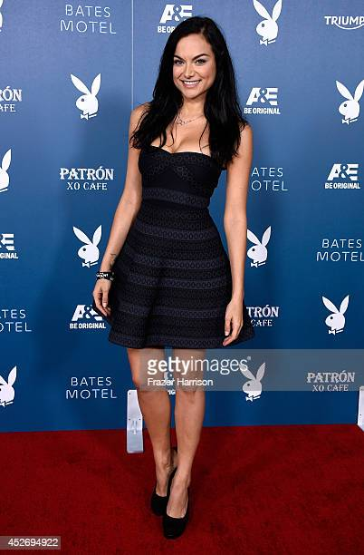 Actress Christina Ochoa attends Playboy and AE 'Bates Motel' Event during ComicCon International 2014 on July 25 2014 in San Diego California