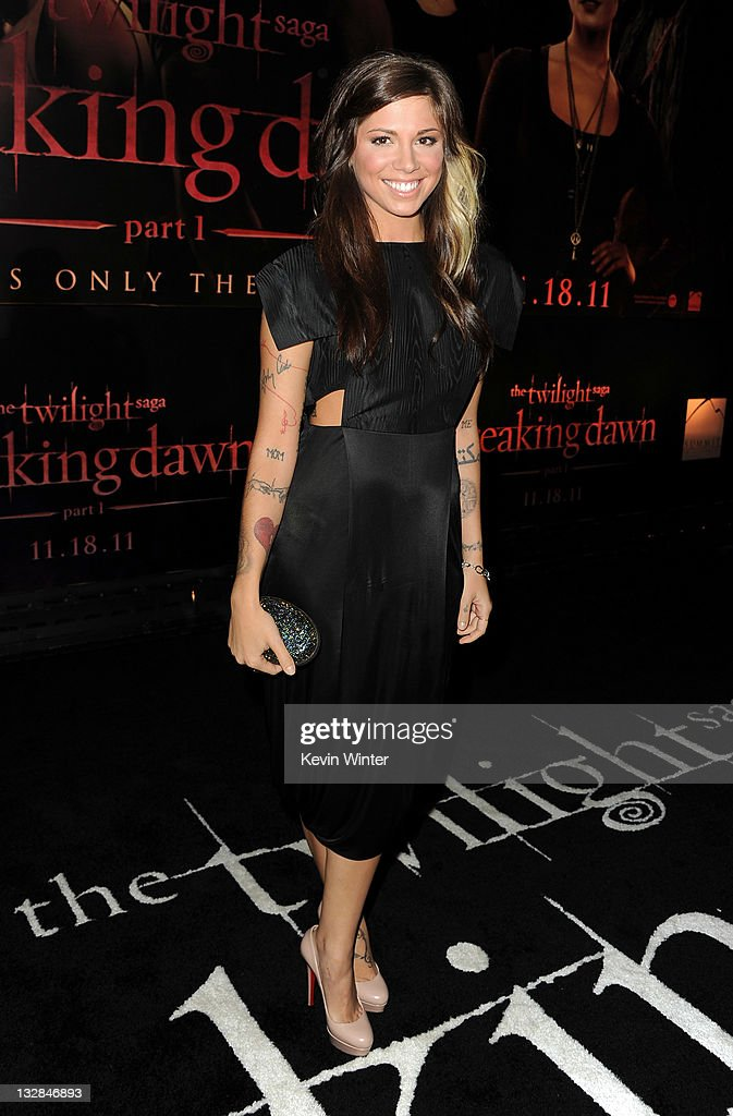 Actress Christina Perri arrives at the premiere of Summit Entertainment's 'The Twilight Saga: Breaking Dawn - Part 1' at Nokia Theatre L.A. Live on November 14, 2011 in Los Angeles, California.