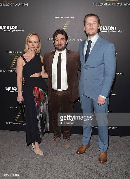 Actress Christina Ricci Amazon's Joe Lewis and actor David Hoflin attend Amazon's New Series 'Z The Beginning Of Everything' Premiere at SVA Theatre...