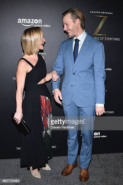 Actress Christina Ricci and David Hoflin attend Amazon's New Series 'Z The Beginning Of Everything' Premiere at SVA Theater on January 25 2017 in New...