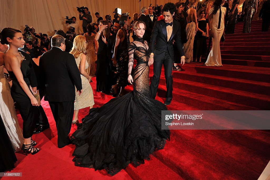 Actress Christina Ricci and designer Zac Posen attend the 'Alexander McQueen: Savage Beauty' Costume Institute Gala at The Metropolitan Museum of Art on May 2, 2011 in New York City.