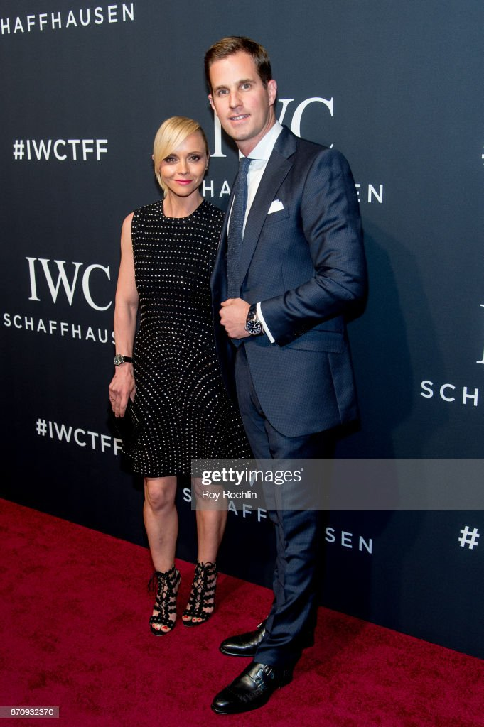 Actress Christina Ricci and IWC CEO Christoph Grainger-Herr attend 'For The Love Of Cinema' Gala Dinner at Spring Studios on April 20, 2017 in New York City.