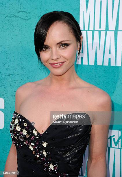 Actress Christina Ricci arrives at the 2012 MTV Movie Awards at Gibson Amphitheatre on June 3 2012 in Universal City California