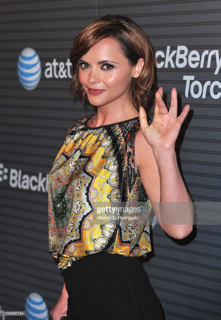 Actress Christina Ricci arrives at the Blackberry Torch launch party on August 11 2010 in Los Angeles California