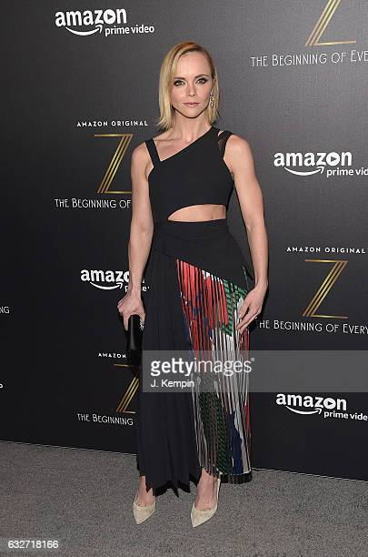 Actress Christina Ricci attends Amazon's New Series 'Z The Beginning Of Everything' Premiere at SVA Theatre on January 25 2017 in New York City