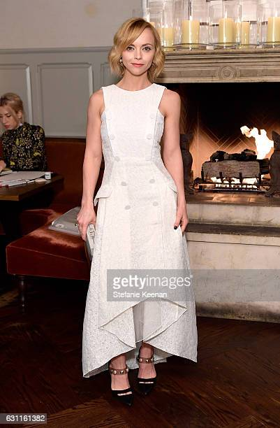 Actress Christina Ricci attends Lynn Hirschberg Celebrates W Magazine's It Girls with Stuart Weitzman at AOC on January 7 2017 in Los Angeles...