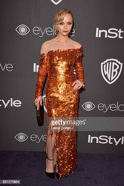 Actress Christina Ricci attends the 18th Annual PostGolden Globes Party hosted by Warner Bros Pictures and InStyle at The Beverly Hilton Hotel on...