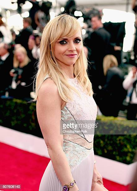 Actress Christina Ricci attends The 22nd Annual Screen Actors Guild Awards at The Shrine Auditorium on January 30 2016 in Los Angeles California...
