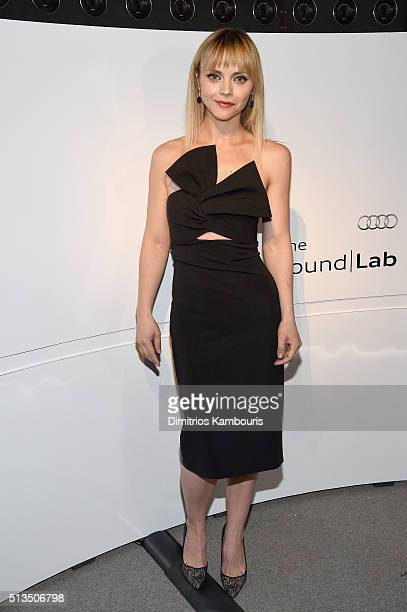 Actress Christina Ricci attends the Audi Sound Lab Experience at the Whitney Museum of American Art on March 2 2016 in New York City
