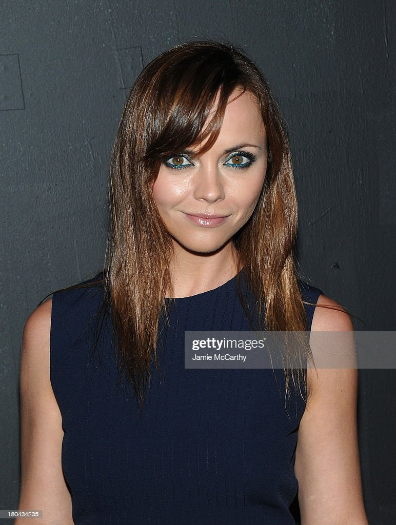 Actress <a gi-track='captionPersonalityLinkClicked' href=/galleries/search?phrase=Christina+Ricci&family=editorial&specificpeople=239510 ng-click='$event.stopPropagation()'>Christina Ricci</a> attends the Marc Jacobs fashion show during Mercedes-Benz Fashion Week Spring 2014 at the Lexington Avenue Armory on September 12, 2013 in New York City.