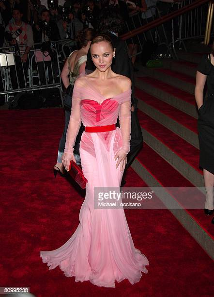 Actress Christina Ricci attends the Metropolitan Museum of Art Costume Institute Gala 'Superheroes Fashion And Fantasy' at the Metropolitan Museum of...
