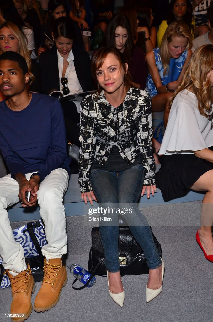 Actress <a gi-track='captionPersonalityLinkClicked' href=/galleries/search?phrase=Christina+Ricci&family=editorial&specificpeople=239510 ng-click='$event.stopPropagation()'>Christina Ricci</a> attends the Richard Chai -- Love & Richard Chai Men's show during Spring 2014 Mercedes-Benz Fashion Week at The Stage at Lincoln Center on September 5, 2013 in New York City.