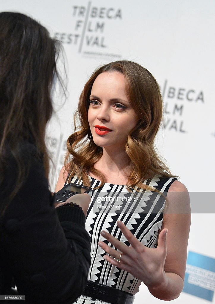 Actress Christina Ricci attends the 'The Smurfs' Family Festival Screening during the 2013 Tribeca Film Festival on April 27, 2013 in New York City.