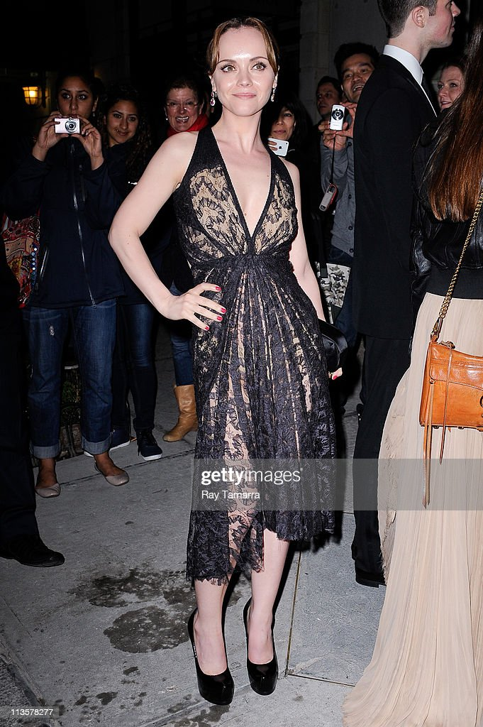 Actress Christina Ricci enters the Crown Restaurant on May 2, 2011 in New York City.