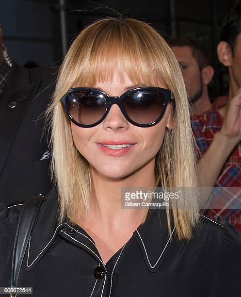 Actress Christina Ricci is seen arriving at Marc Jacobs Spring 2017 fashion show during New York Fashion Week at Hammerstein Ballroom on September 15...