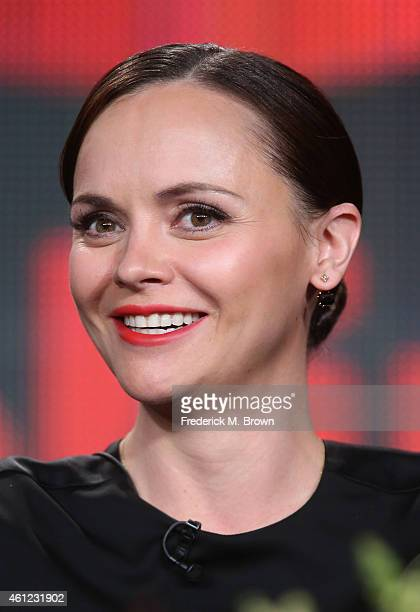 Actress Christina Ricci speaks onstage during the 'The Lizie Borden Chronicles' panel at the AE Networks portion of the 2015 Winter Television...
