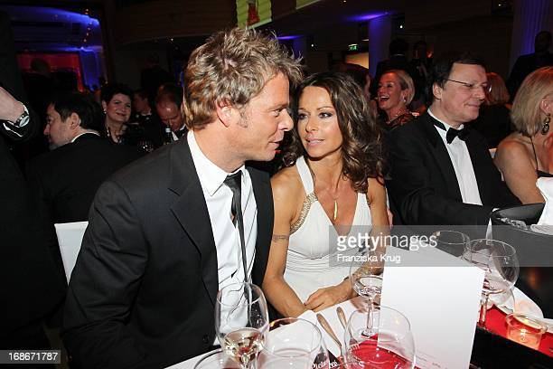 Actress Christina 'Tini' Plate and presenter Oliver Geissen at 37th German Filmball at Hotel Bayerischer Hof in Munich on 160110