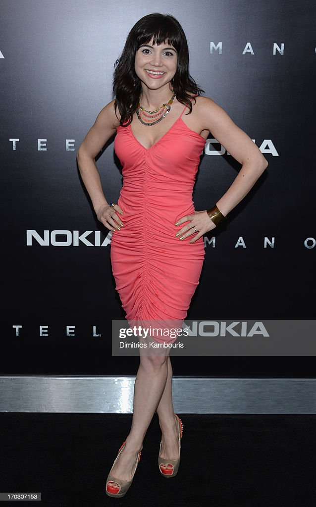 Actress Christina Wren attends the 'Man Of Steel' world premiere at Alice Tully Hall at Lincoln Center on June 10, 2013 in New York City.