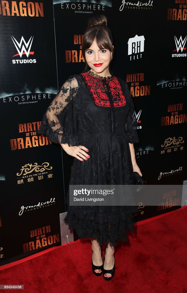 Actress Christina Wren attends the premiere of WWE Studios' 'Birth of the Dragon' at ArcLight Hollywood on August 17, 2017 in Hollywood, California.