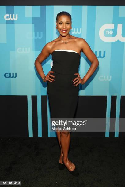 Actress Christine Adams attends the 2017 CW Upfront on May 18 2017 in New York City