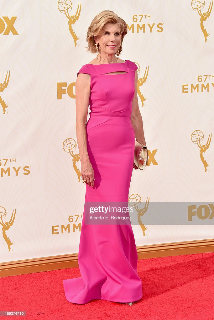 Actress Christine Baranski attends the 67th Emmy Awards at Microsoft Theater on September 20, 2015 in Los Angeles, California. 25720_001