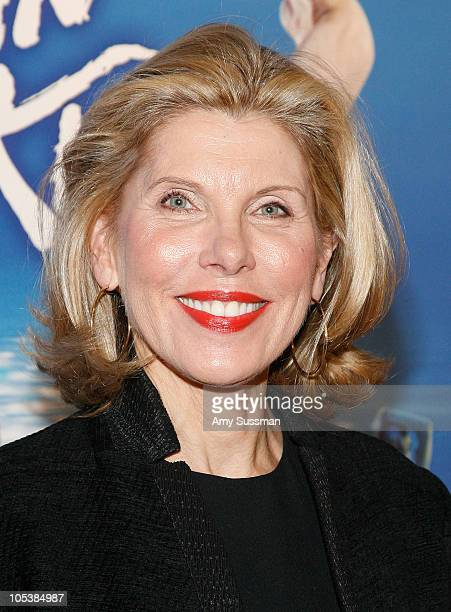 Actress Christine Baranski attends the first gala performance of the New York return of Matthew Bourne's 'Swan Lake' at New York City Center on...