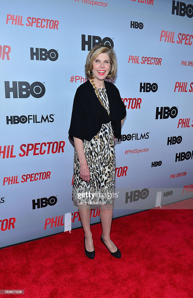 Actress Christine Baranski attends the 'Phil Spector' premiere at the Time Warner Center on March 13, 2013 in New York City.