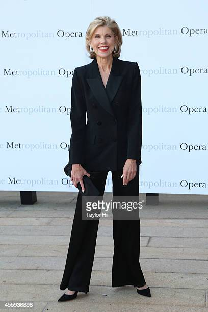 Actress Christine Baranski attends the season opening of 'The Marriage of Figaro' at The Metropolitan Opera House on September 22 2014 in New York...