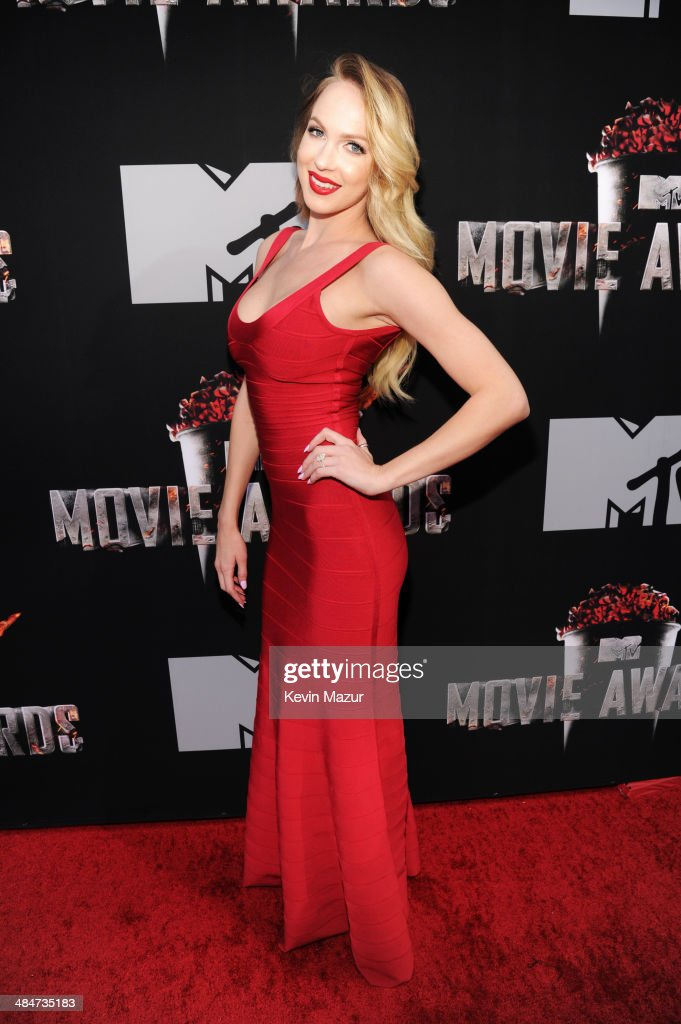 Actress Christine Bently attends the 2014 MTV Movie Awards at Nokia Theatre L.A. Live on April 13, 2014 in Los Angeles, California.