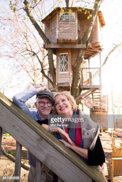 Actress Christine Ebersole and hubsand/painter Bill Moloney are photographed for Closer Weekly Magazine on April 14 2016 at home in New Jersey...