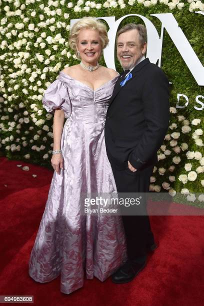 Actress Christine Ebersole and Mark Hamill attend the 2017 Tony Awards at Radio City Music Hall on June 11 2017 in New York City