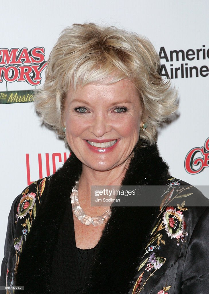 Actress <a gi-track='captionPersonalityLinkClicked' href=/galleries/search?phrase=Christine+Ebersole&family=editorial&specificpeople=214025 ng-click='$event.stopPropagation()'>Christine Ebersole</a> attends the 'A Christmas Story: The Musical' Broadway Opening Night at Lunt-Fontanne Theatre on November 19, 2012 in New York City.
