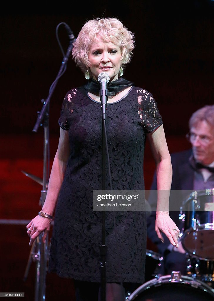 Actress <a gi-track='captionPersonalityLinkClicked' href=/galleries/search?phrase=Christine+Ebersole&family=editorial&specificpeople=214025 ng-click='$event.stopPropagation()'>Christine Ebersole</a> performs onstage at The Music Center's 50th Anniversary Launch Party held at The Dorothy Chandler Pavilion on April 1, 2014 in Los Angeles, California.