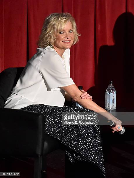 Actress Christine Ebersole speaks onstage during the screening of '42nd Street' during day three of the 2015 TCM Classic Film Festival on March 28...