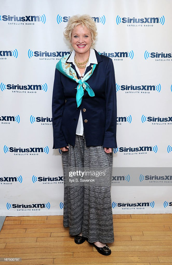 Actress <a gi-track='captionPersonalityLinkClicked' href=/galleries/search?phrase=Christine+Ebersole&family=editorial&specificpeople=214025 ng-click='$event.stopPropagation()'>Christine Ebersole</a> visits the SiriusXM Studios on April 25, 2013 in New York City.
