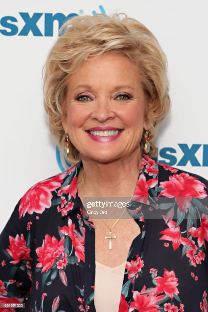 Actress Christine Ebersole visits the SiriusXM Studios on June 2, 2017 in New York City.