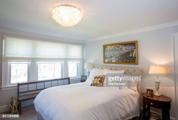 Actress Christine Ebersole's home is photographed for Closer Weekly Magazine on April 14 2016 in New Jersey Bedroom PUBLISHED IMAGE