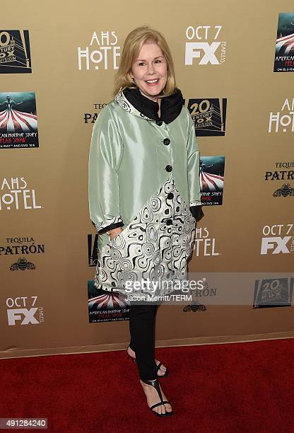 Actress Christine Estabrook attends the premiere screening of FX's 'American Horror Story Hotel' at Regal Cinemas LA Live on October 3 2015 in Los...