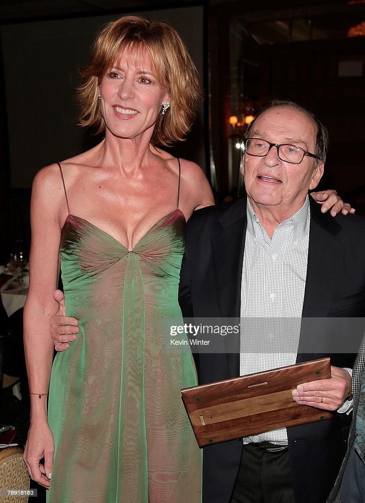 Actress Christine Lahti congratulates director Sidney Lumet after he won the LA Film Critic's Career Achievement Award at the 2007 LA Film Critic's Choice Awards held at the InterContinental on January 12, 2008 in Los Angeles, California.