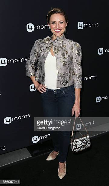 Actress Christine Lakin attends 4moms launch of a selfinstalling car seat at Petersen Automotive Museum on August 4 2016 in Los Angeles California